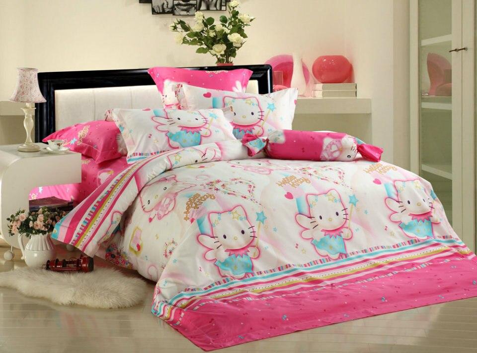 Popular hello kitty queen comforter set buy cheap hello kitty queen comforter set lots from - Hello kitty bedroom set ...