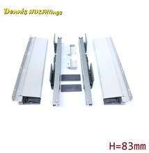 "L=550mm 22"" Double Wall Soft Close Drawer Slide Runners Kitchen Bath Furniture Cabinet(China)"