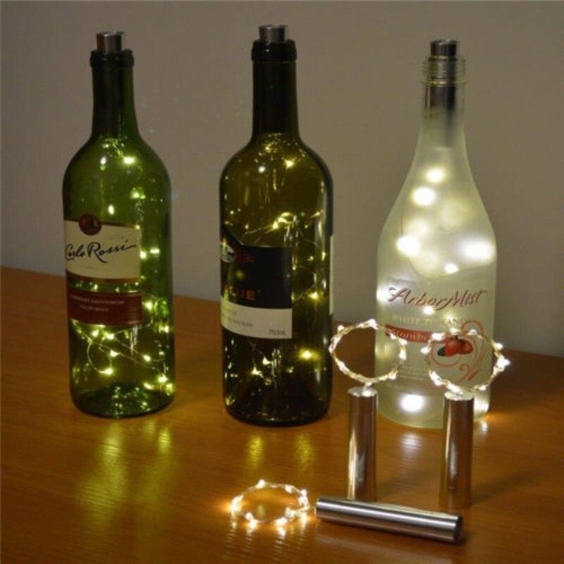 wein stopfen cork licht draht dekoration flasche wein lampe led licht