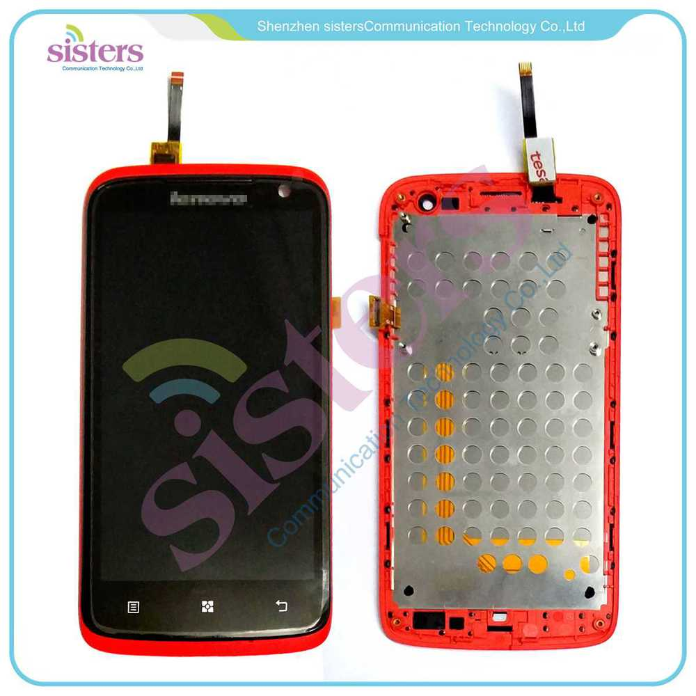Wholesale White Red Black LCD Display Touch Screen Digitizer Full Assembly With Frame For Lenovo S820<br><br>Aliexpress