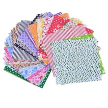Hoomall Mixed 50PCs/set 10x10cm Floral Fabric For Patchwork Cotton Fabric Sewing Quilting Handmade Scrapbooking Sewing Craft DIY(China)