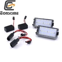 Eonstime 12V 18Led License Plate Light Lamp 7000K White Led for SEAT ALTEA AROSA IBIZA CORDOBA LEON TOLEDO(China)