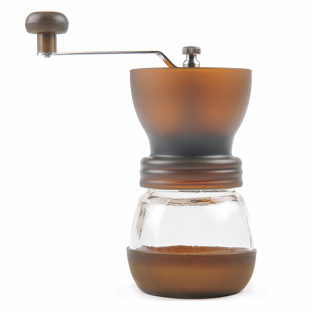 LAGUTE Handheld Portable Handmade Manual Coffee Mill Coffee Bean Grinder with Ceramic Burr for Home Office Coffee Maker <br>