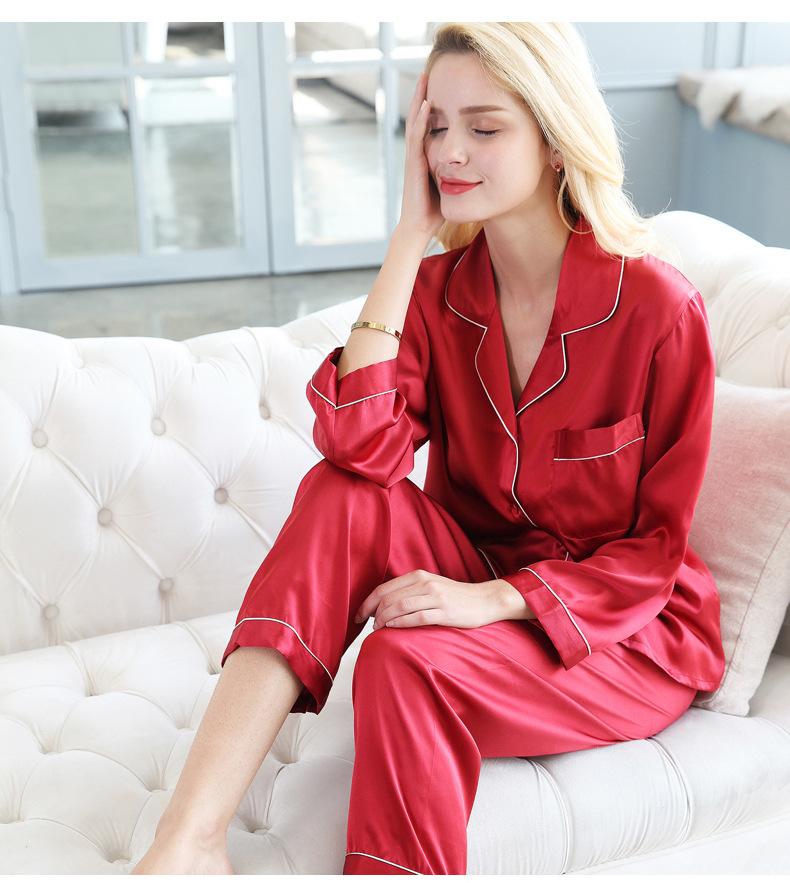 Pure Genuine Silk Pajamas Set