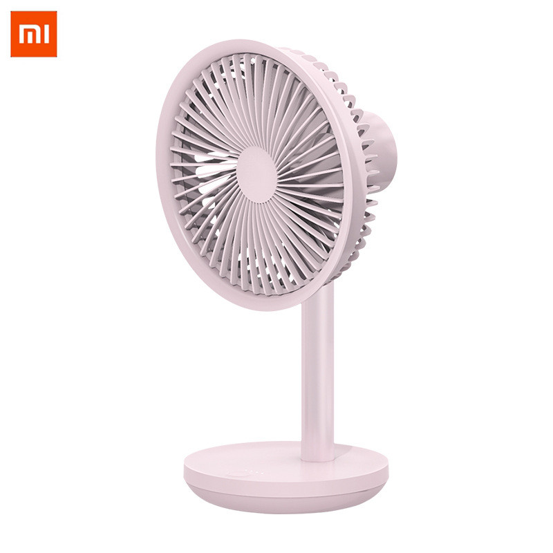 Xiaomi SOLOVE 5W USB Desktop Table Fan 4000mAh USB Rechargeable 3 Modes Wind Speed Cooling Oscillating Fan Black/Pink/White(China)