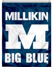 2 Color Millikin Big Blue House Nation Banner American Outdoor Indoor Baseball College Flag 3X5 Custom Any Flag