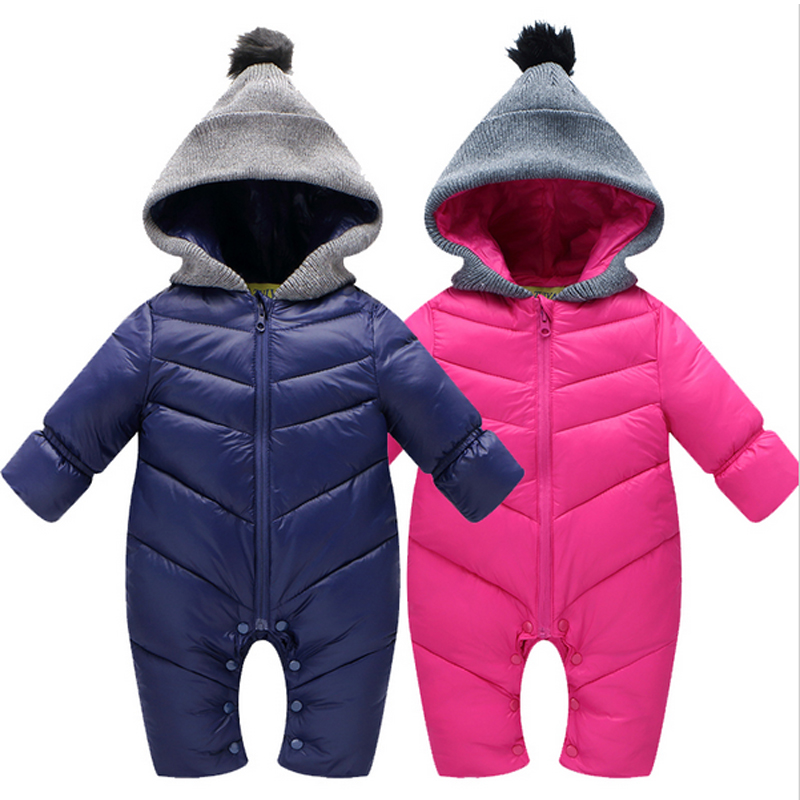 High Quality Baby Rompers Winter babys Boys outerwear Girls Warm Clothes Kids Jumpsuit Baby duck down crawling clothes 0-12M<br><br>Aliexpress