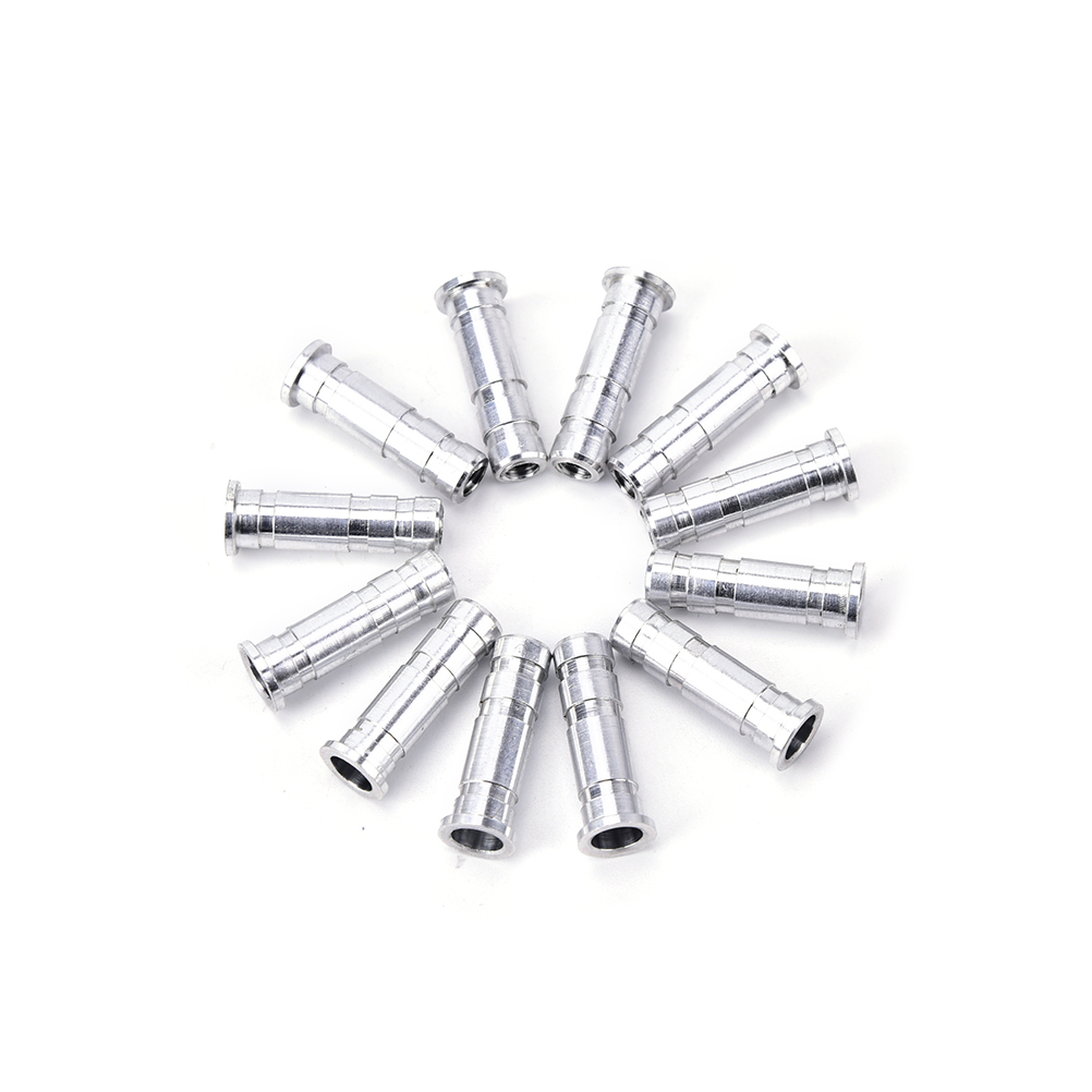 12x 6.2mm Silver Aluminum Archery Insert Base Replace for Arrow Shaft Practice..