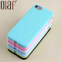 Olaf Cheapest Candy Case 1.5mm TPU phone case for iPhone 7Plus mobile phone case with lanyard hole Shock proof Cover case Capa