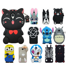 Lovely Cute 3D Cartoon Soft Silicon Cover For Meizu M3S Case Phone Cases For Meizu M3 Meilan 3/3S Rabbit Kitten dog Case