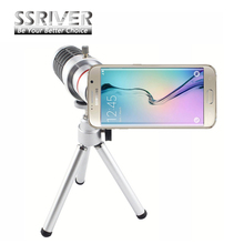 SSRIVER for Samsung Galaxy S6 Edge 18x Optical Zoom Camera lens Cover Case 18x Zoom Smartphone lens Tripod Case Lens