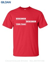 Sleeve Men Tshirt Fashion Wisconsin Basketballer Final Tournament Bracket Your Team Funny Men's Tee Shirt(China)