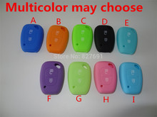 Silicone Car Key Case Shell Cover For Renault 2 button Clio Renault Trafic Master Kangoo Blank Colorful 1pc remote key cover 1pc