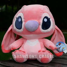 "LILO & STITCH PLUSH STUFFED TOYS 9"" STITCH GIRL FRIEND ANGEL SOFT DOLL ORIGINAL"