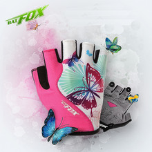 BATFOX Women Cycling Gloves 2017 MTB Fitness Female Sport Bike Gloves Outdoor Mountain Road Bicycle Gloves