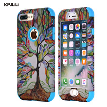 KPJLILI Dream Phone Case for Apple iPhone 7 Plus 7Plus Luxury Soft Rubber Heavy Duty Anti-Knock Funda Cover for iPhone 6 6S Plus