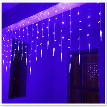 1.5x0.5m LED Curtain Light String Holiday Valentie's Day Lights Multicolor Christmas Garland Ice Conical Party Wedding Lamps