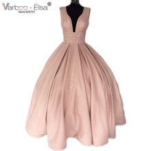 VARBOO_ELSA champagne spaghetti straps Evening prom Dresses Bling Bling a line silver prom dress backless evening party dress