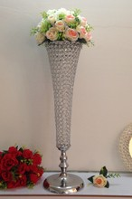 crystal wedding centerpiece table decoration for party wedding centerpiece stands flowers display holder(China)