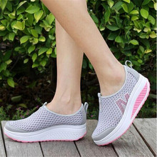 Height Increasing 2017 Summer Shoes Women's Casual Shoes Sport Fashion Walking Shoes for Women Swing Wedges Shoes Breathabl