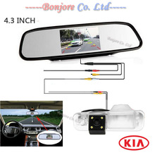 Parking car video Mirror monitor with HD CCD Anti fog Special Reversing Rear view camera for KIA/Rio Sedan Backup Parking System