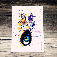 Waterproof tattoo custom color colorful fantasy eye personality tattoo stickers manufacturers selling tattoo stickers SC2978(China)