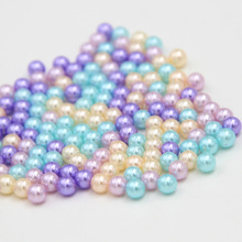 Sale! 200Pc 5mm/7mm Mixed-color Round Resin Pearl DIY Beads Sewing Craft for Jewelry Making Without Hole QC232