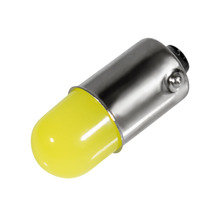 10pcs Heat durable T11 363 233 BA9S COB 30MA Round 3D Led T4W 1 SMD Car License Plate Light Parking Bulb Door Lamp White 12V 10X