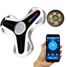 APP Control Fidget Spinner Bluetooth Chargeable LED Hand Spinner Gadgets Stress Reliever Toy Gifts Spinner Hand with R188 Steel