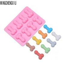 Buy 10 * Silicone Penis Ice Cake Kitchen Supplies New Dick Funny Sex Tray Soap Chocolate Cake Molde Party Gift