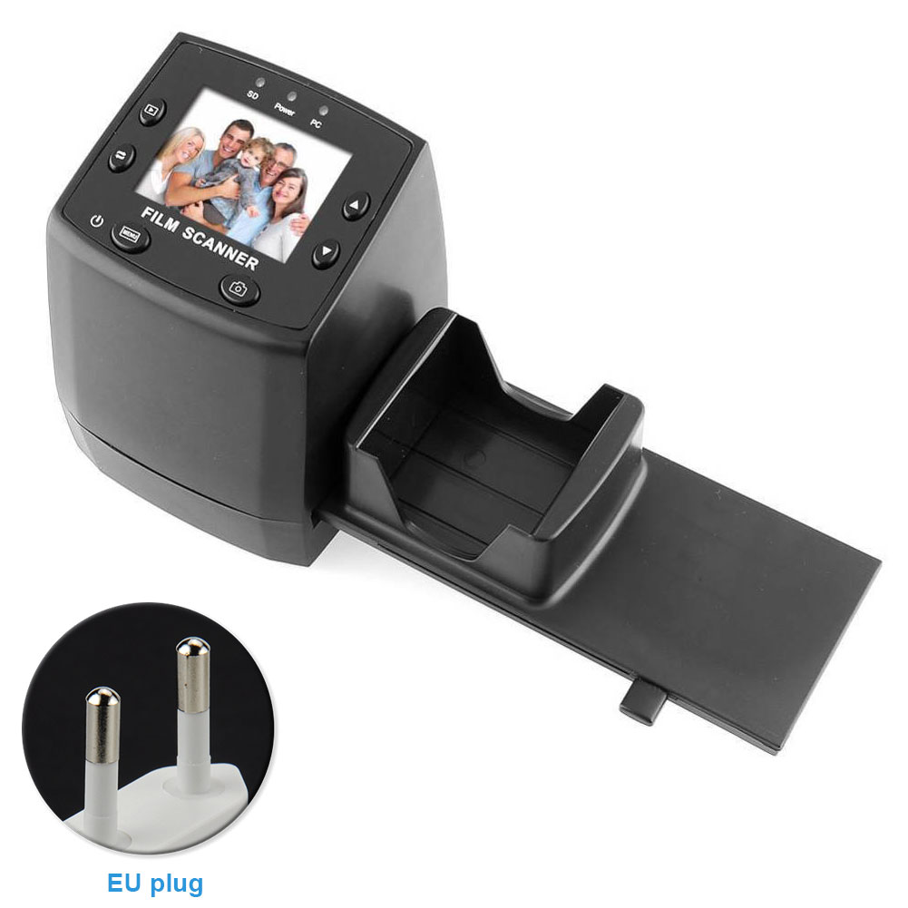 EC717 2.4inch Slide Mini Photography Negative Films Film Scanner LCD Display Tool Movie Quick Editing High Resolution Converter