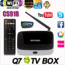 EU/US Plug CS918 Andriod 4.4 Smart TV Box Quad Core 2G/16G Bluetooth 1080P WIFI Android TV Box(China)