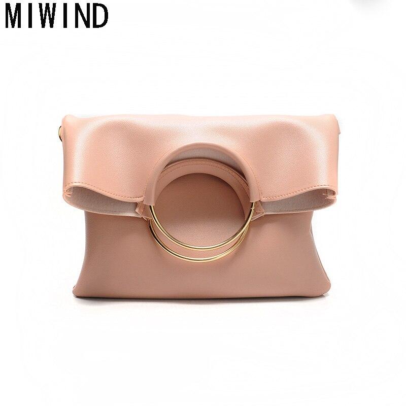 MIWIND Women Ring Handle Handbag Female Shoulder Crossbody Bags Ladies Messenger Bags TCH1138<br>