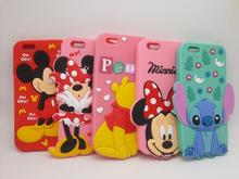 "Cute 3D Cartoon Mickey Minnie Mouse Pooh winnie Stitch Soft Silicone Case Cover For iPhone 6 6s 4.7"" Fundas Rubber phone cases"