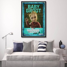 X042 Guardians of the Galaxy Vol 2 Movie Baby Groot Vin Diesel A4 Art Print Poster Silk Light Canvas Painting Home Decor Wall Pi