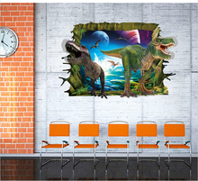 Dinosaurs 3D Wall Stickers Wallt rade Explosion Models Children's Room Decorative Wall Stickers Removable Waterproof OO-053
