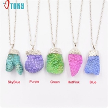 OTOKY Gussy Life Fashion Design Coral Style Crystal Pendant Chain Necklace Mar27(China)