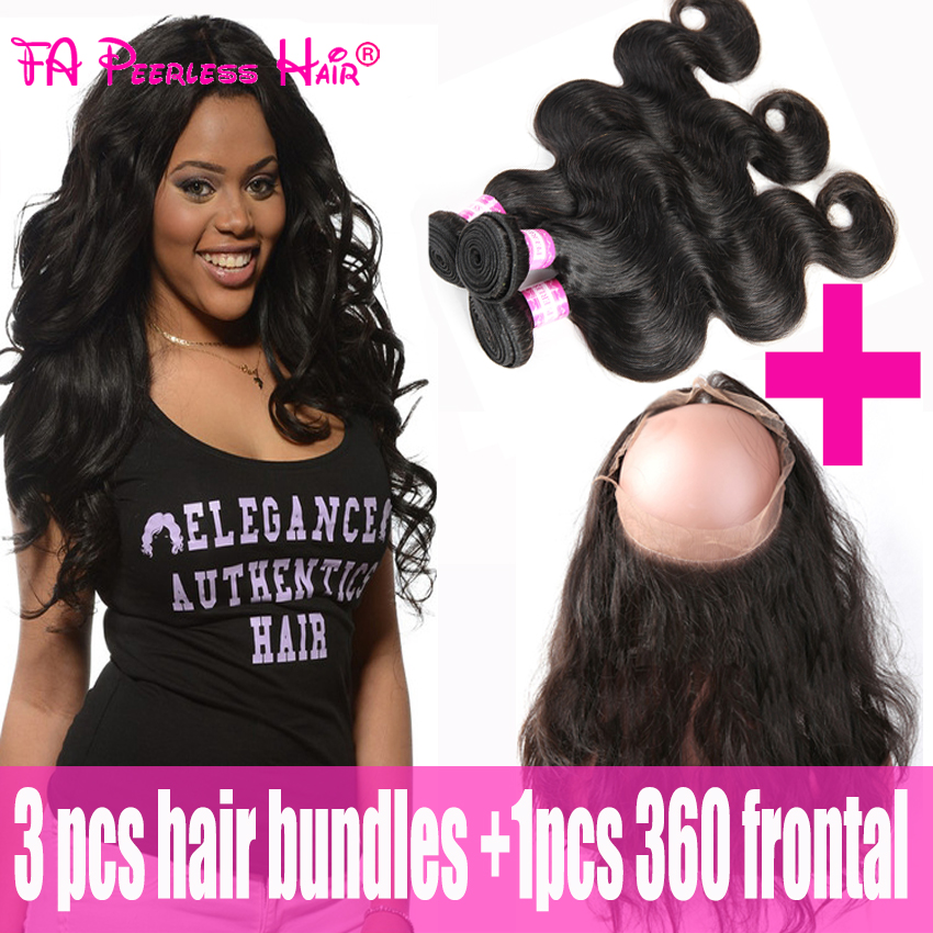 8A 360 Lace Virgin Hair With Bundles Wholesale Peruvian 360 Frontals And 3 Bundles Pre Plucked Fa Peerless Dentelle Frontale 360<br><br>Aliexpress
