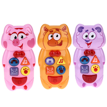 Russian Children Kids Electronic Mobile Phone with Music Sound Smart Phone Toy Cellphone Early Education Toy Infant Toys