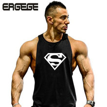 Top gyms 2017 summer cotton bodybuilding and fitness clothes Gymwear vest men Brand designer undershirt tank top cheap/Plus size