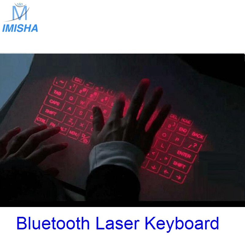 Imisha New Virtual Laser keyboard and mouse for Ipad Iphone Tablet PC, Bluetooth Projection Projected Keyboard Wireless Speaker<br>