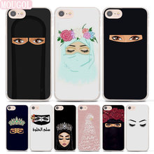 MOUGOL Hot Sale Oriental Woman In Hijab Face Style Thin clear phone shell case for Apple iPhone 7 7Plus 8 8Plus 6 6sPlus X SE 5(China)