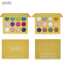 IMAGIC Glitter Eyeshadow Magnet Palette Long lasting Shimmer and Shine Diamond Sequins Sparkles Eye shadow Korean Cosmetics(China)