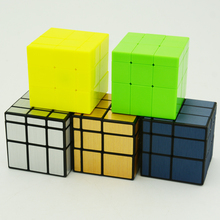 New Qiyi 3x3x3 Mirror Block Silver Golden Stickers 3Layers Cube Magic Cube Puzzle Twist Puzzle Speed Cube Special Toys 57mm