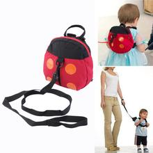 Cute Baby Kids Cartoon Adjustable Backpack Anti-lost Toddler Walking Safety Harness Strap Ladybird Shape Design Hot!