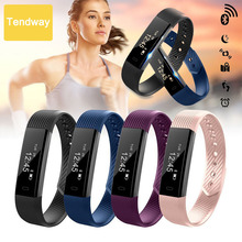 ID115 HR Smart Bracelet Band Fitness Tracker podometre Alarm Clock Vibration Smart Wristband Bluetooth for xiomi Android IOS