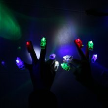 NOCM-40 in 1 Super Bright Finger Lamp, LED Finger lights, carnival lamp, lighting Music Festival, Party, All Saints, Halloween(China)