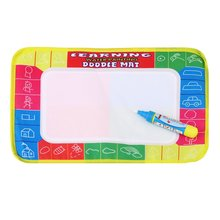 New Hot Fun Kids Baby Add Water Write Draw Paint Water Drawing Canvas Magic Doodle Mat With Magic Pen Brushes Gift Christmas(China)