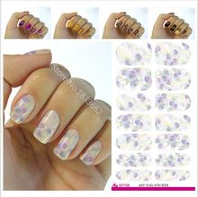 2017 Real Manicure V644 New Fashion Water Transfer Foil Nail Stickers All Kinds Of Art Design Patterns Decorative Decal
