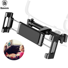 Baseus Backseat Mount Car Holder For iPhone 7 iPad Samsung S8 Tablet 360 Degree Back Seat Mobile Phone Holder Stand(China)